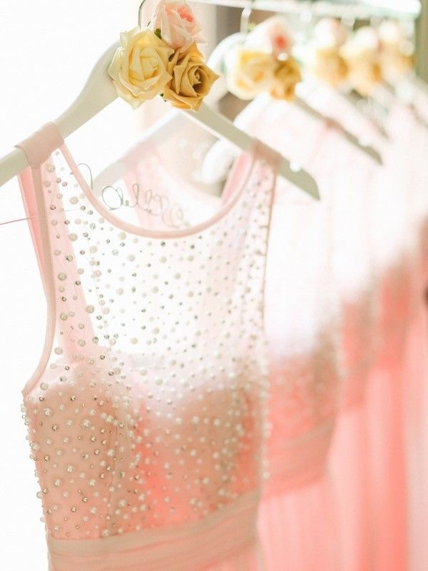pink sparkly bridesmaids dresses