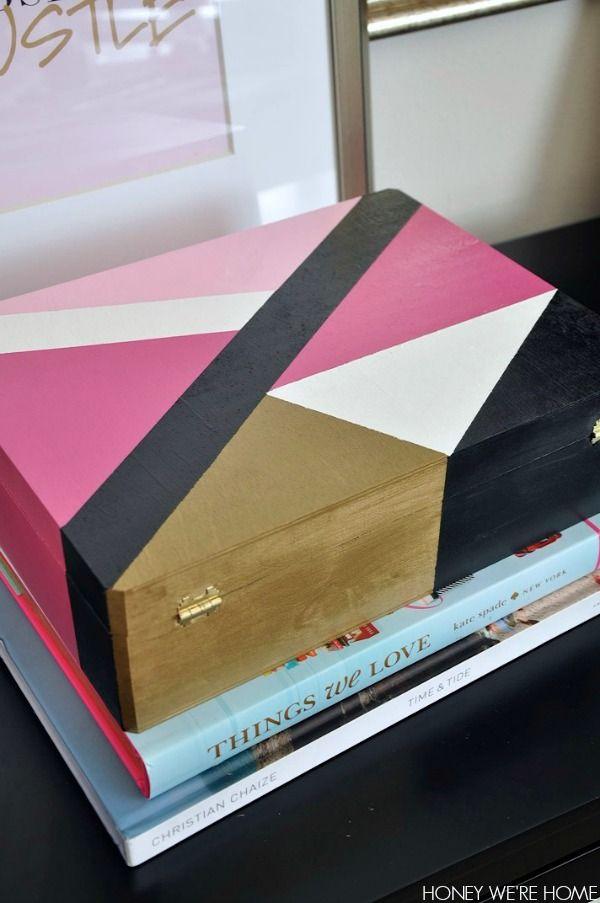 Painted Wooden Boxes Painted Wooden Boxes Wooden Box Diy Wooden Box Crafts