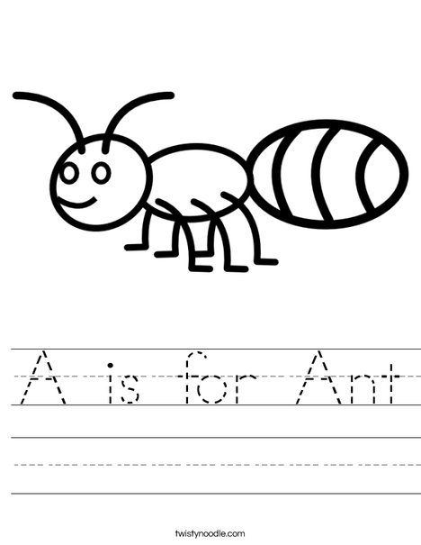 A Is For Ant Worksheet This Site Lets You Customize What The Text