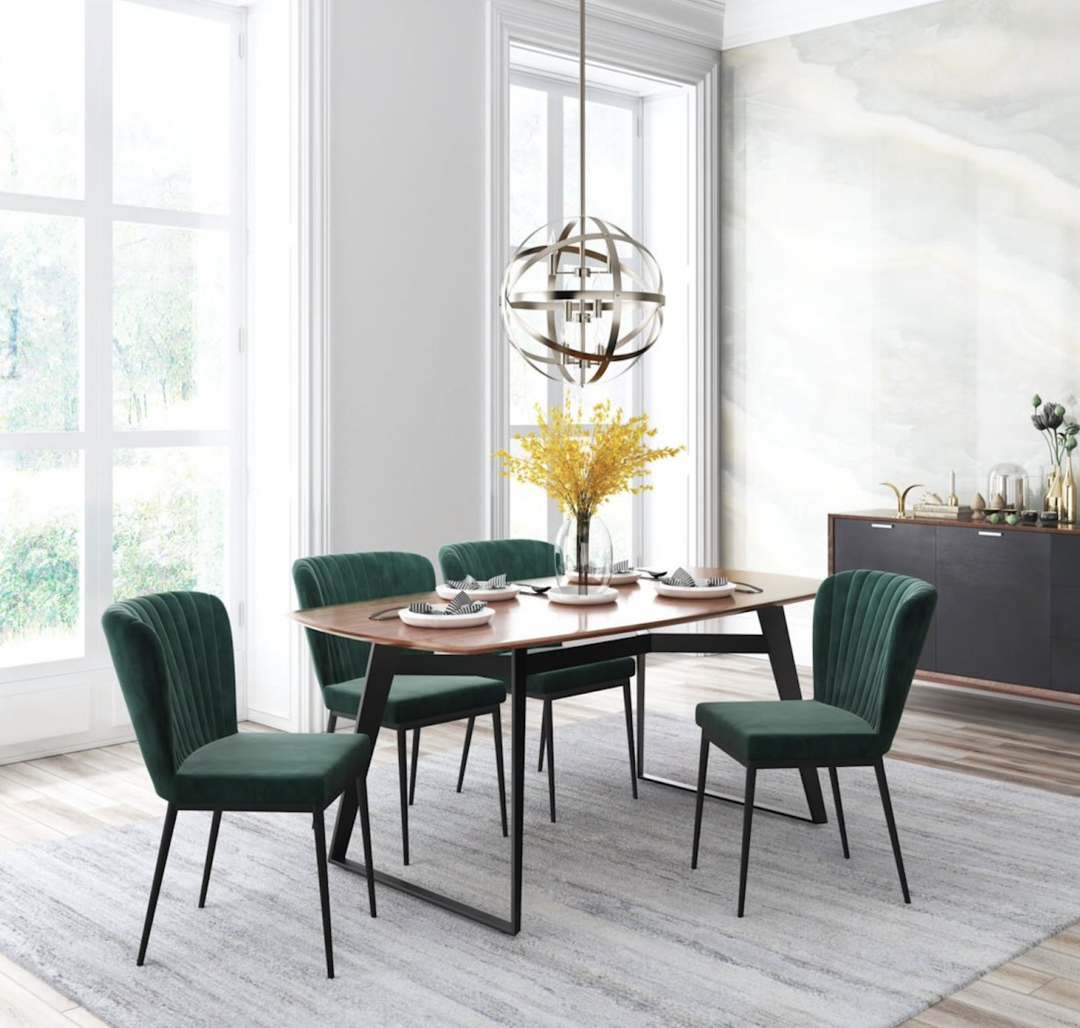 Green Velvet Dining Chairs Dining Room Design Luxury Dining