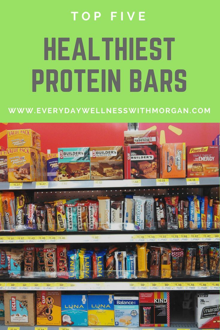 Top 5 Healthiest Protein Bars | Healthy protein bars ...