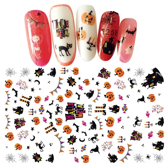 1pc Ultrathin Adhesive 3d Nail Art Sticker Cute Funny Halloween Theme Design Nails Decal Decoration For Kids Nails Manicure Tool In 2020 Nail Art Stickers Nails For Kids Nail Decals