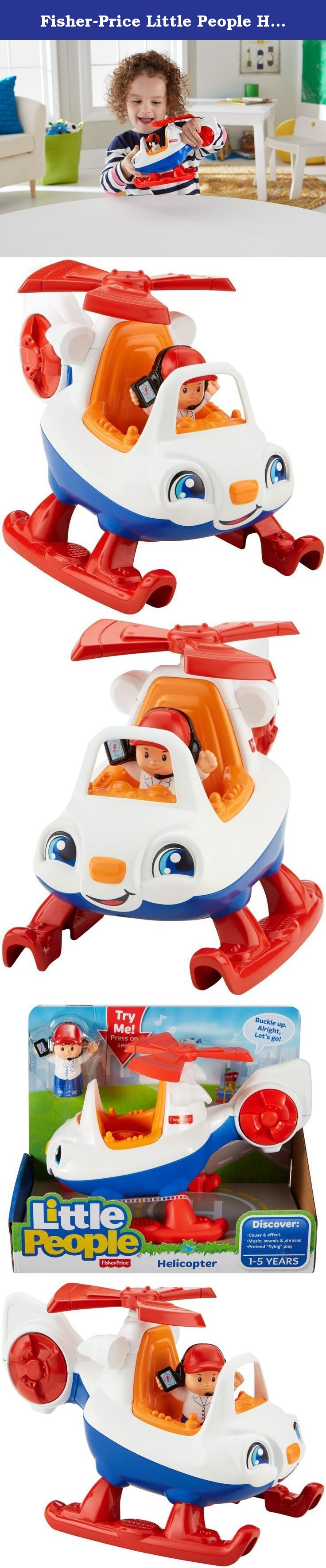 """Fisher Price Little People Helicopter """"Buckle up Alright let s"""