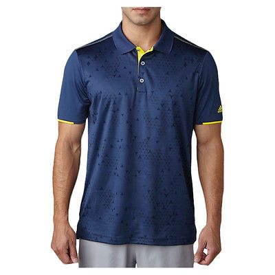 2017 Adidas ClimaCool Stratus Print Golf Polo St Dark Slate XX-Large NEW
