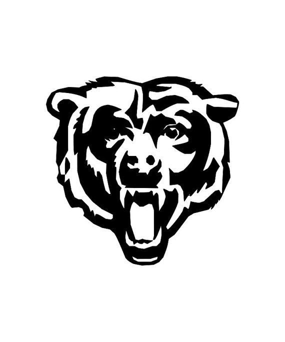 Chicago bears vinyl. Head decal silhouette sports