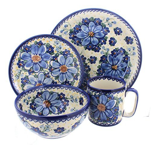Polish Pottery Daisy Surprise 16 Piece Dinnerware Set * Be sure to check out this awesome  sc 1 st  Pinterest & Polish Pottery Daisy Surprise 16 Piece Dinnerware Set * Be sure to ...