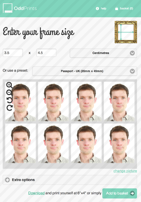 Free and easy way to print photos at ANY size for passports or ...
