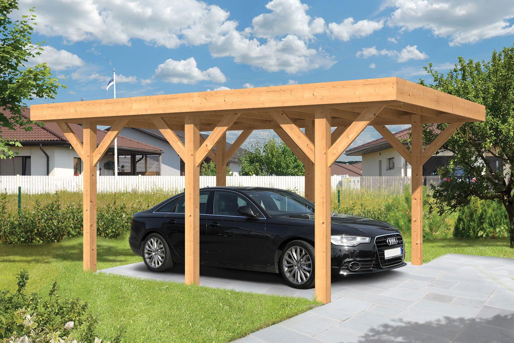 Houten Carport Lemmer 450 X 600 Cm Plat Dak Carport Platte Dak Dak