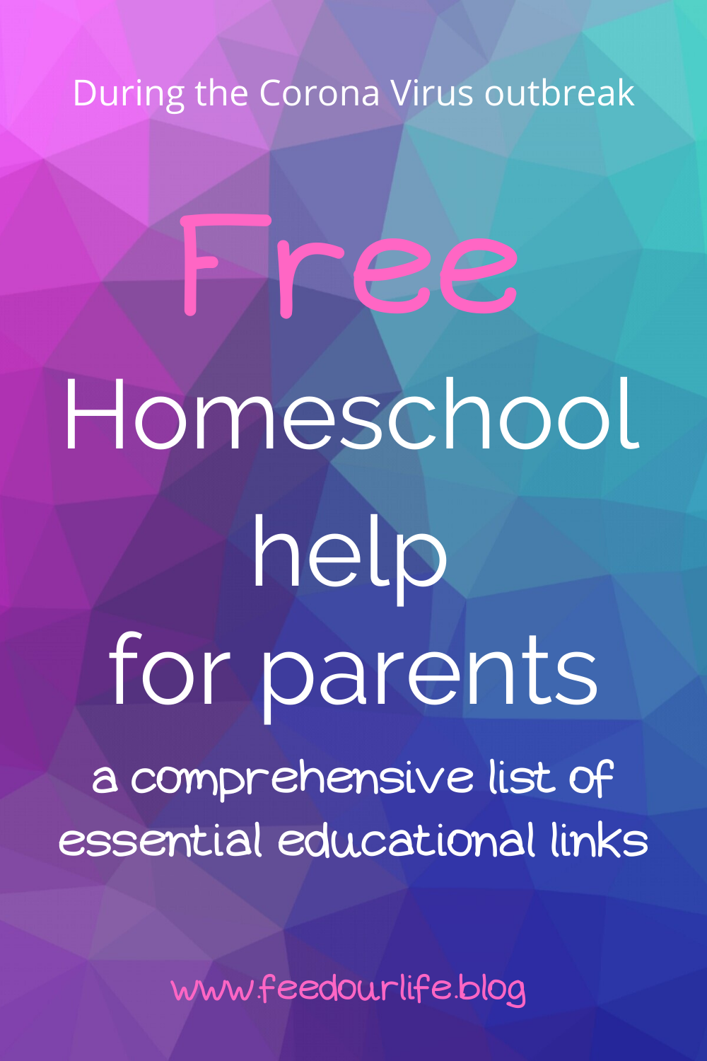 Free Homeschool Help For Parents Feedourlife Blog In 2020 Homeschool Help Free Homeschool Homeschool