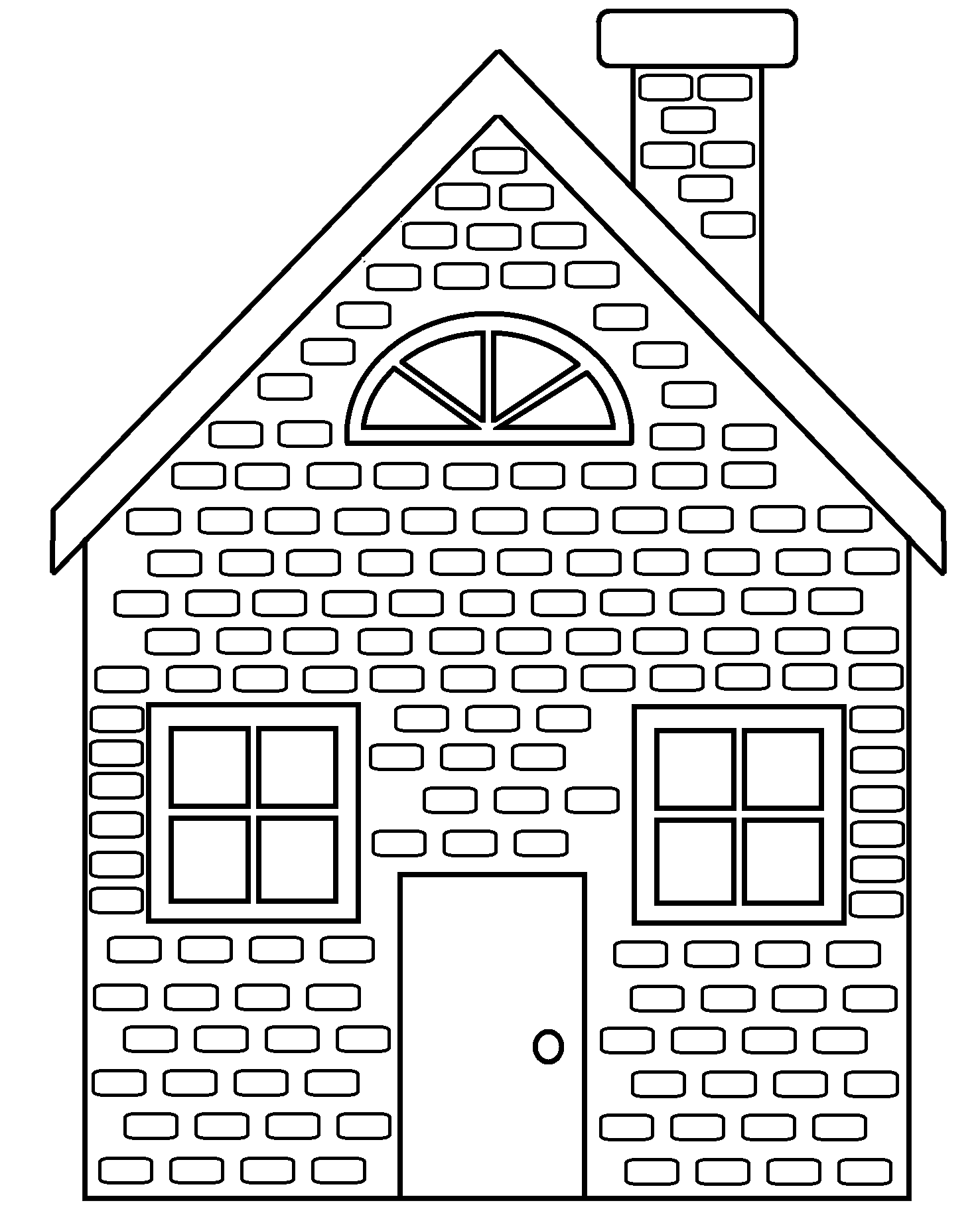 straw house coloring pages - photo#12