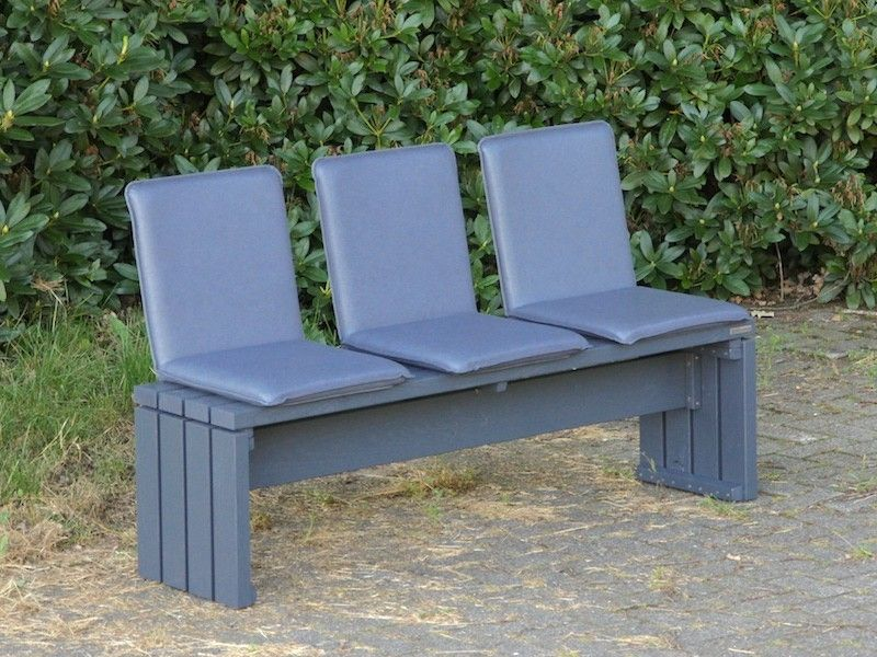 gartenbank holz mit outdoor sitzschalen farbe anthrazit. Black Bedroom Furniture Sets. Home Design Ideas
