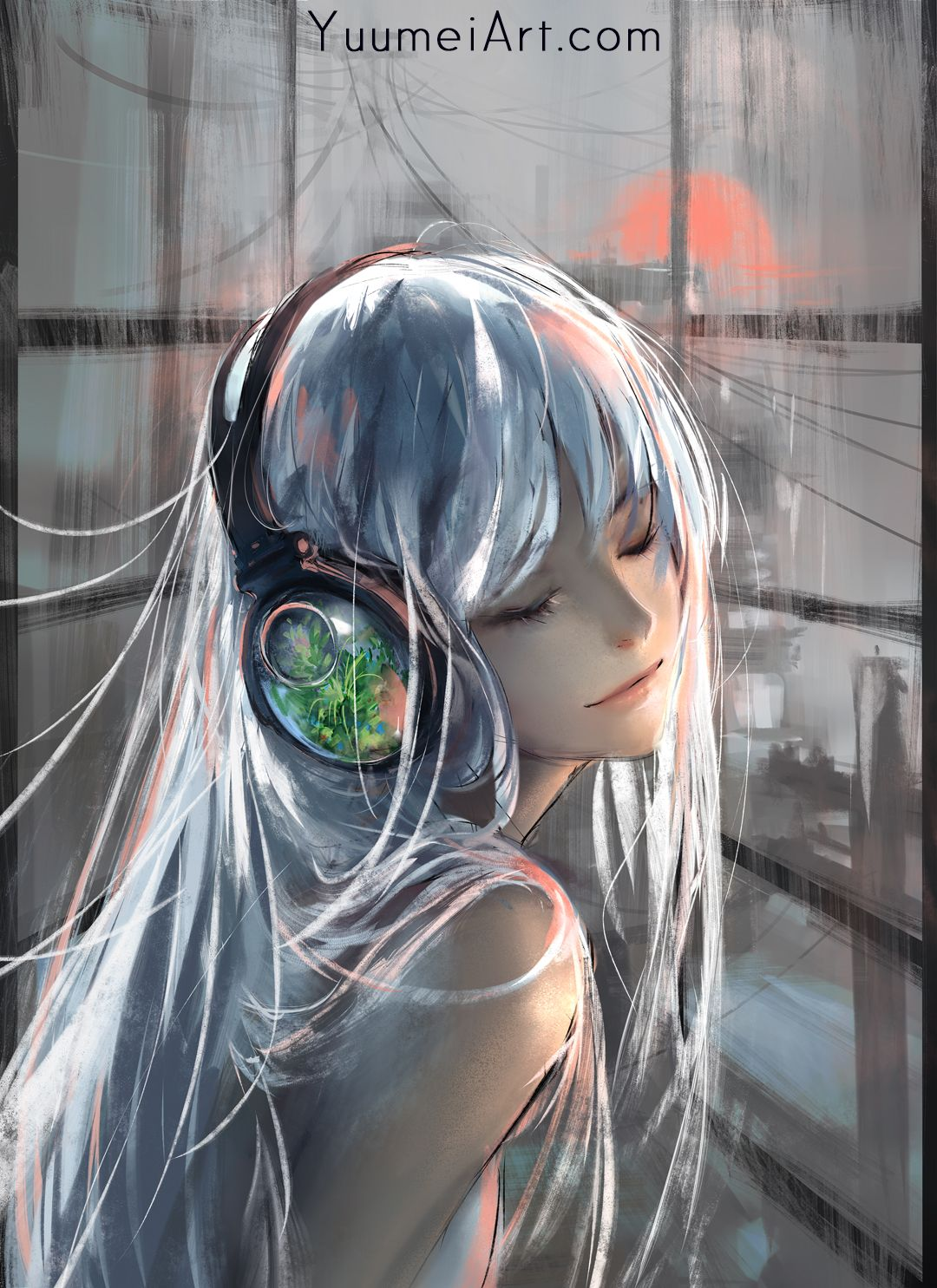 Closed Eyes White Hair Original Characters Anime Anime Girls Headphones Wallpaper No 766992 Wallha Anime Art Beautiful Anime Art Girl Anime Art