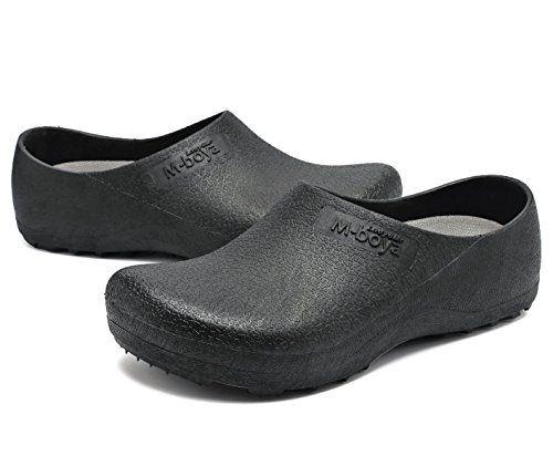 e25693e5f250 adituo Slip Resistant Clog For Men Women Non Slip Chef Work Shoes Black For  Restaurant