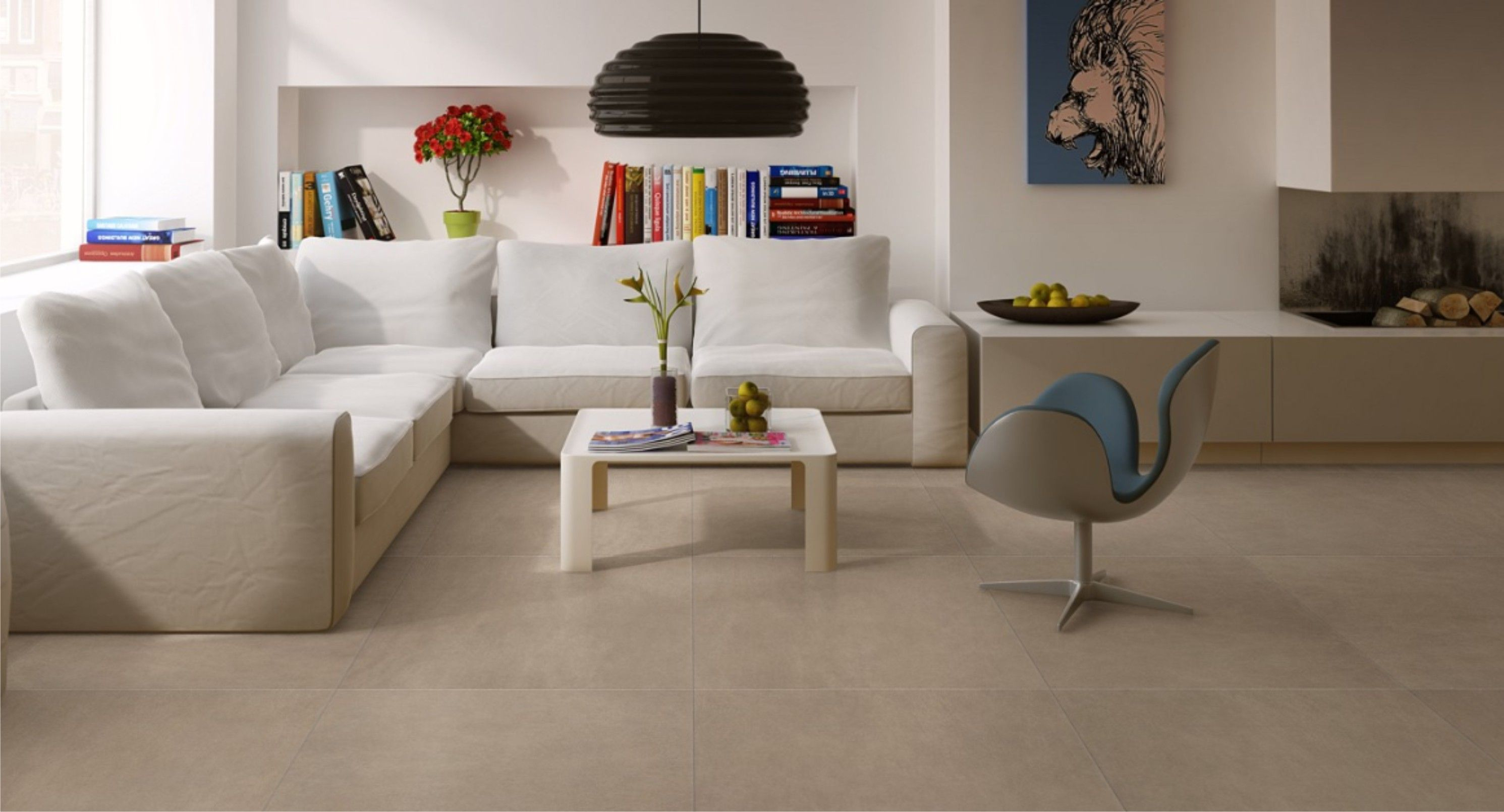Laminaat tegels lederlook in de woonkamer | tg wonen | Pinterest