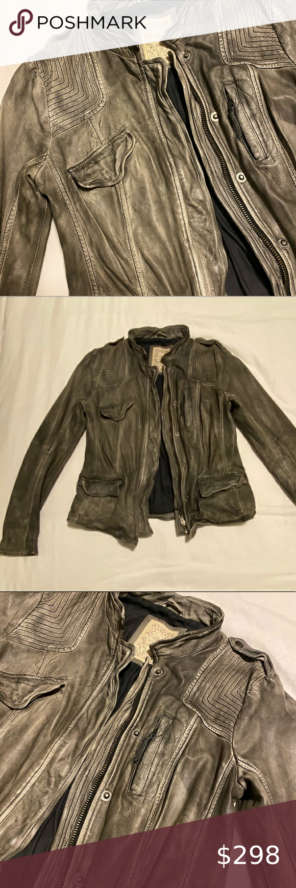 Fitted Rugged Leather Jacket In 2020 Rugged Leather Leather Jacket Jackets