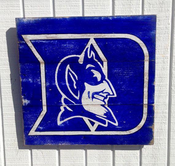 8c8c838655d Duke Blue Devils Basketball Logo Team Wall Art by ArtBySarahSavage ...