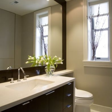 layout for vanity and toilet