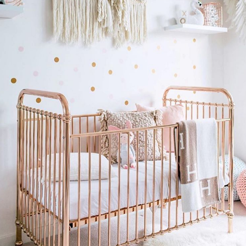 Matresses Gold Nursery Decor Baby Bedroom