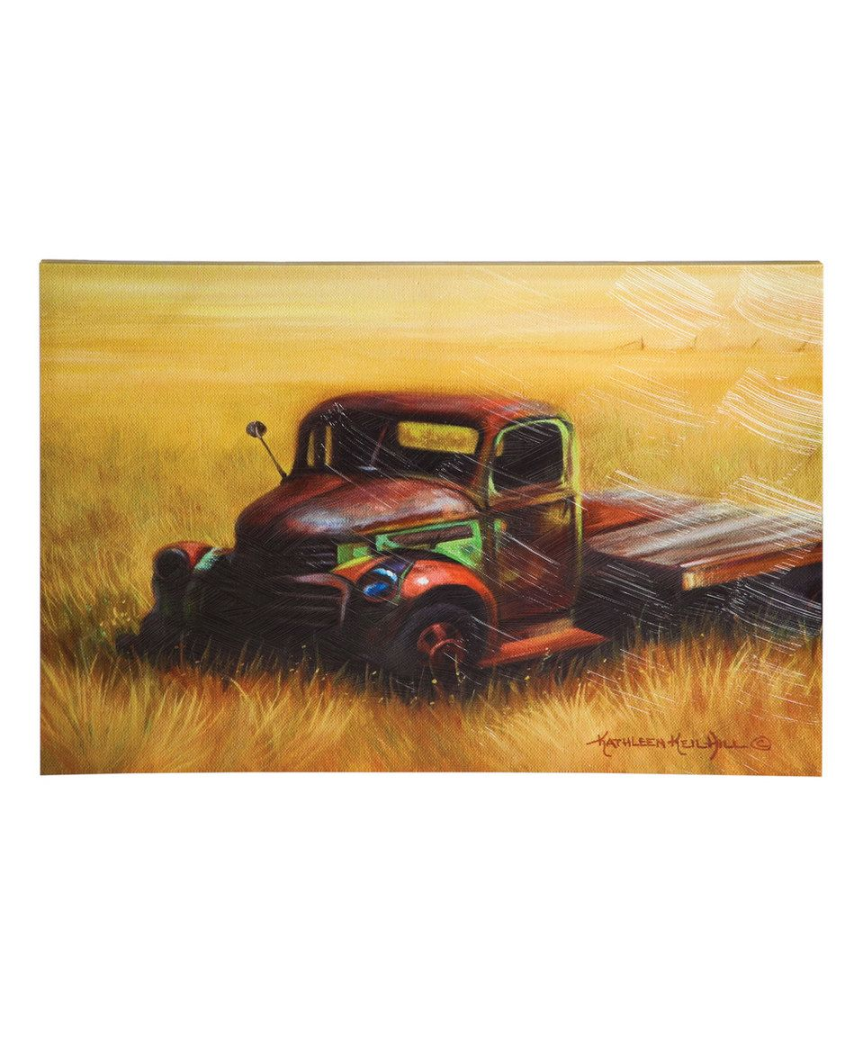 Another great find on #zulily! Old Truck Canvas by Evergreen ...