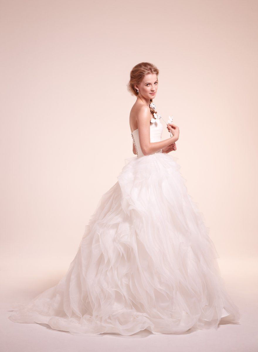 Alita Graham New York 7810 Organza ball gown with draped bodice and ...