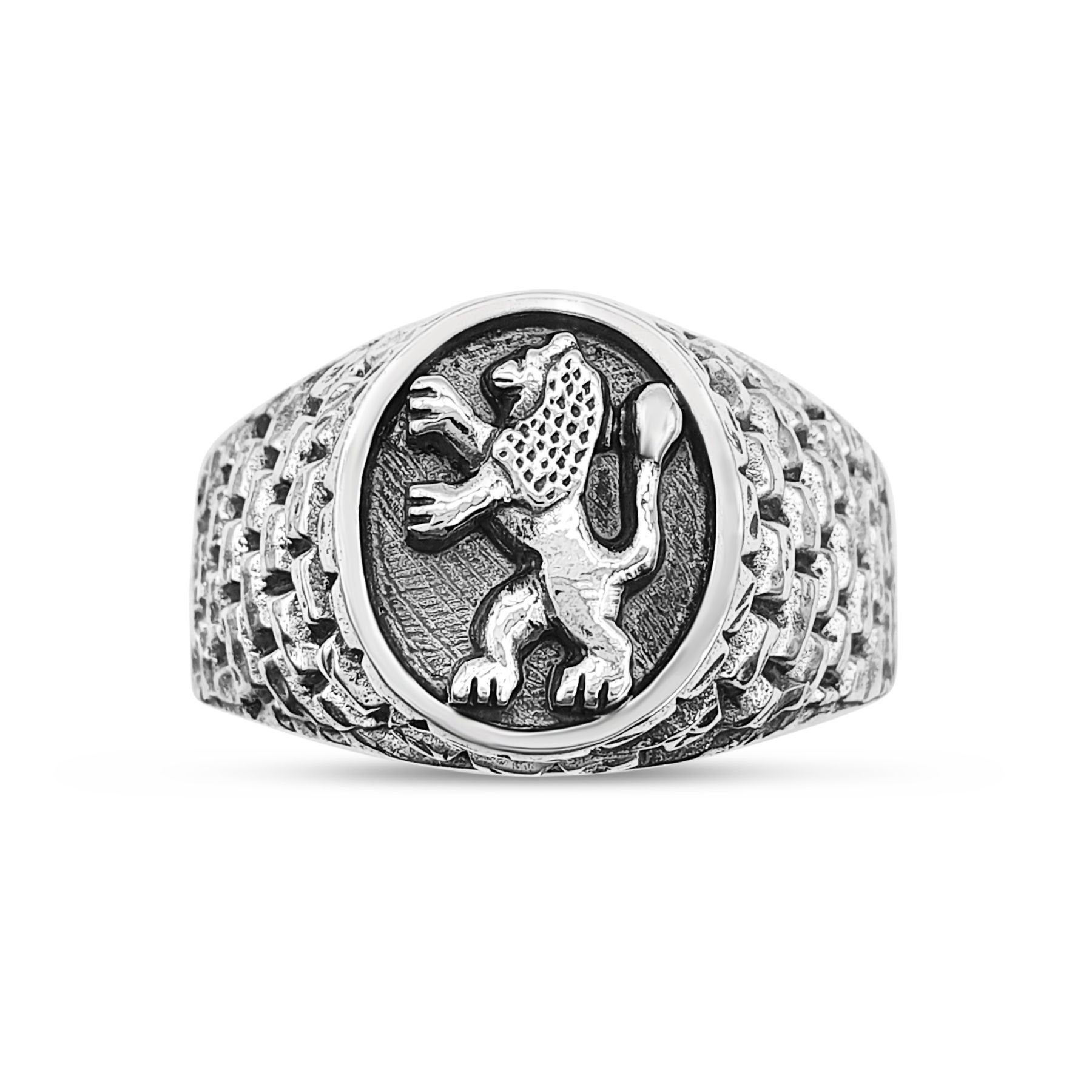 Sterling Silver Western Wall And Lion Of Judah Ring