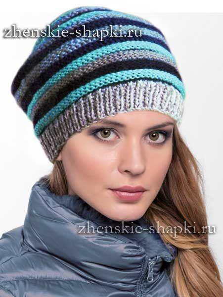 Молодежная шапка спицами  efaf2a063cd16