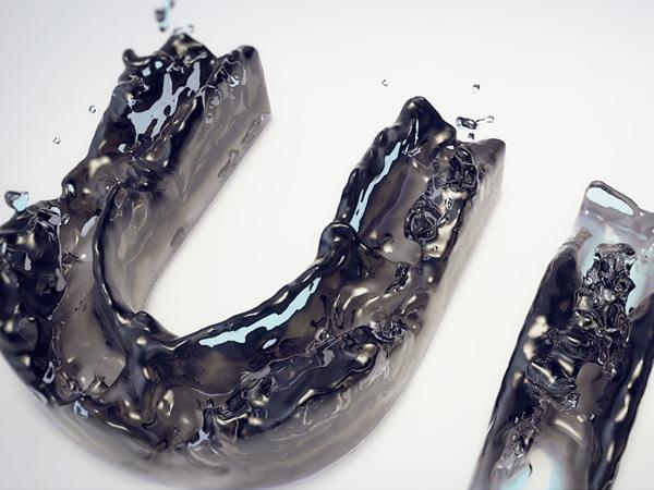liquid typography by creativedash   via behance