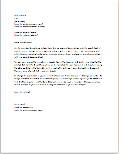Download Executive Design Letter Format At HttpWww
