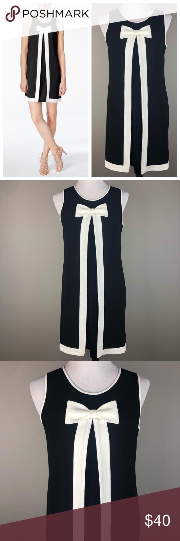 Cece Cynthia Steffe Bow Trim Shift Dress 6 Shift Dress Sleeveless Shift Dress Cynthia Steffe