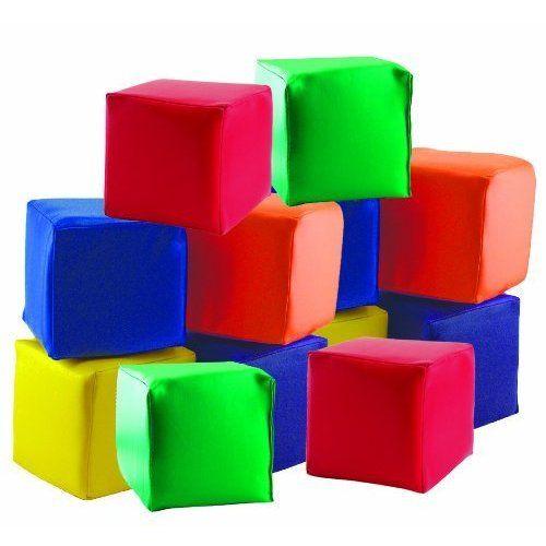 ECR4Kids Soft Toddler Blocks, 5.5 Foam Cubes ($59.97)