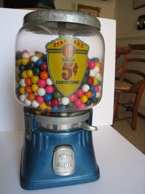 Vintage Gumball Machine With Images