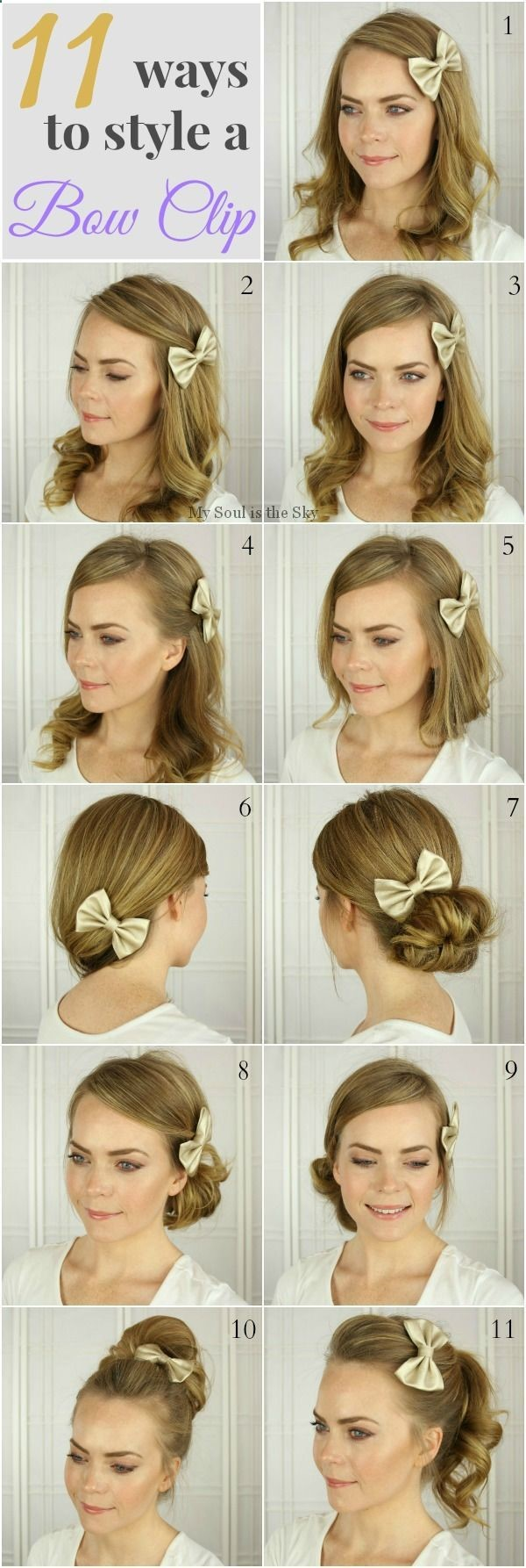 Easy hairstyles with a hair accessory hair and beauty pinterest