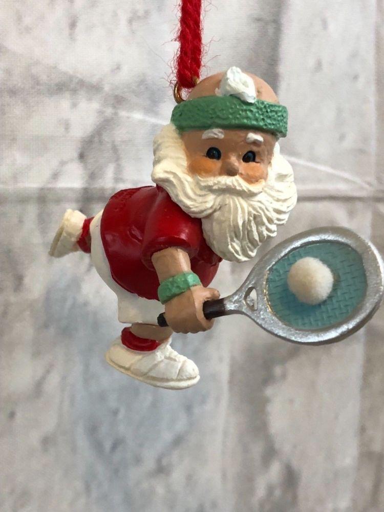 Hallmark Keepsake Ornament Love Santa Vintage Christmas Ornament Tennis Hallmark Keepsake Ornaments Vintage Christmas Ornaments Christmas Decorations Ornaments