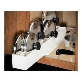 Lid Maid Pot/Pan Lid Organizer   Cabinet Pull Out Organizers