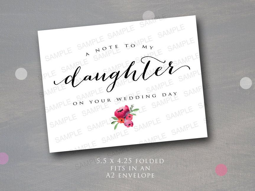 A note to my daughter on her wedding day a note for the