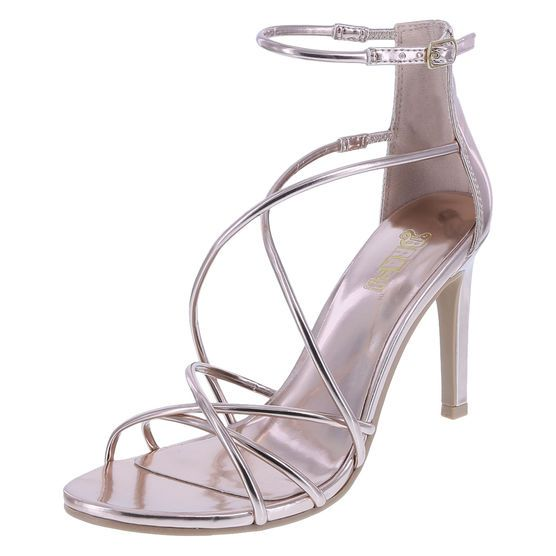 addc75410058c6 Get that WOW-factor thanks to Brash and the Kaveot Strappy Sandal! This  gorgeous sandal features a shiny upper