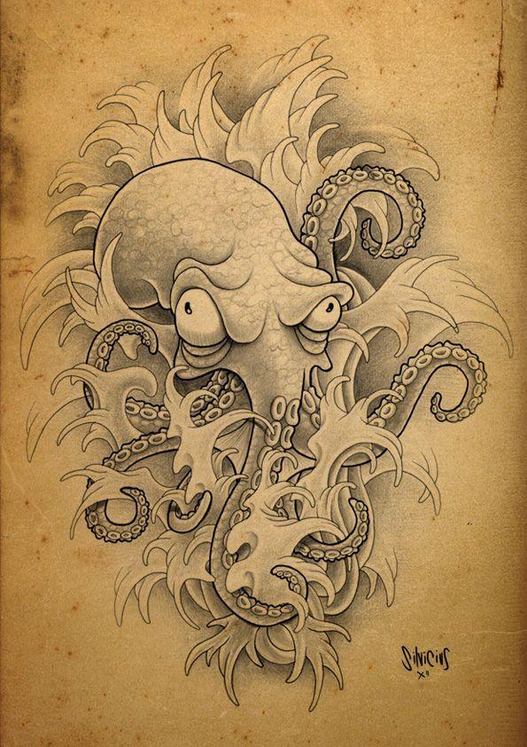 """Photo of Dies sind die verwandten Schlüsselwörter für den Begriff """"Octopus Tattoos"""". Beschreibung von …, #descri …"""
