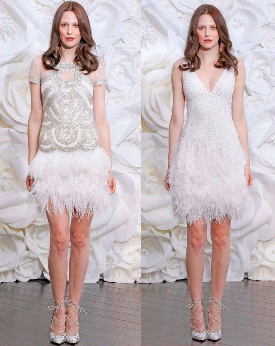 Модные платья с перьями изоражения