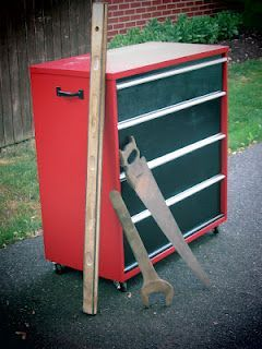 Craftsman Look A Like Tool Chest Made From An Old Dresser Diy Tool