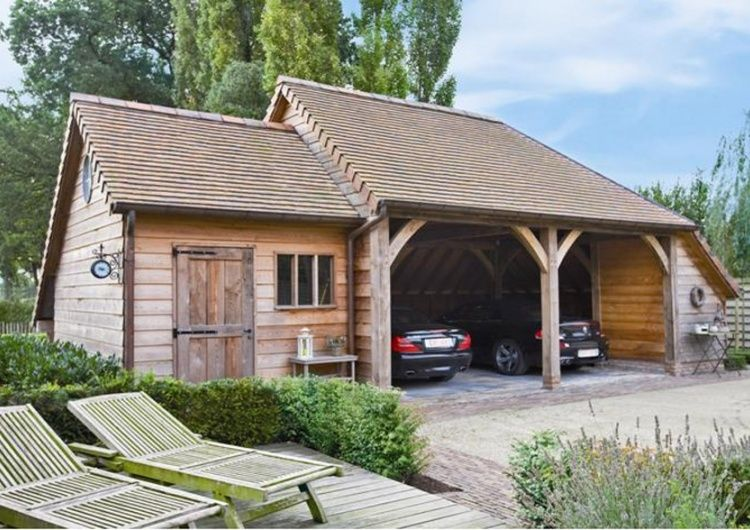 Garage Met Carport : Carport autos met berging woodarts later make it a tool shed
