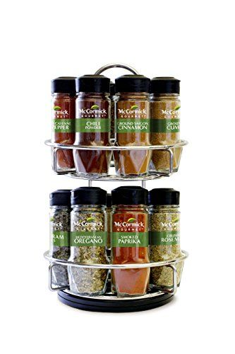 Mccormick Gourmet Spice Rack With Spices Included In 2019 Kitchen Spice Racks Spice Rack Organiser Gourmet Recipes