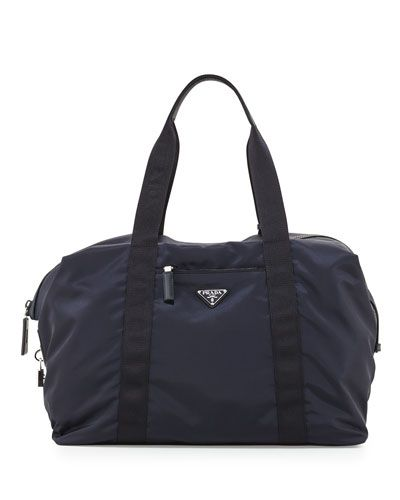 0ec2cf844d69ea PRADA MEN'S NYLON & SAFFIANO DUFFEL BAG, BLUE. #prada #bags #tote #leather  #lining #travel bags #hand bags #nylon #weekend #
