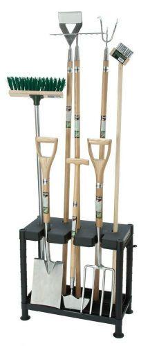 Garden Tool Storage Rack Free Standing Tidy Shelf Equipment