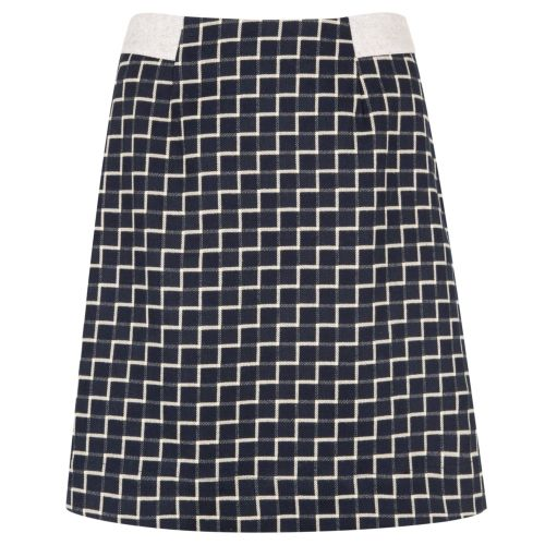 Buy Ladder Check A-Line Chevron Skirt by Poem from Oliver Bonas: