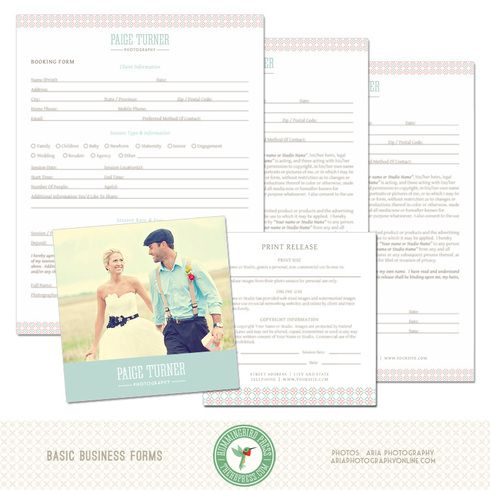 Basic Photography Business Forms Templates (MK9D) Photography - business forms templates