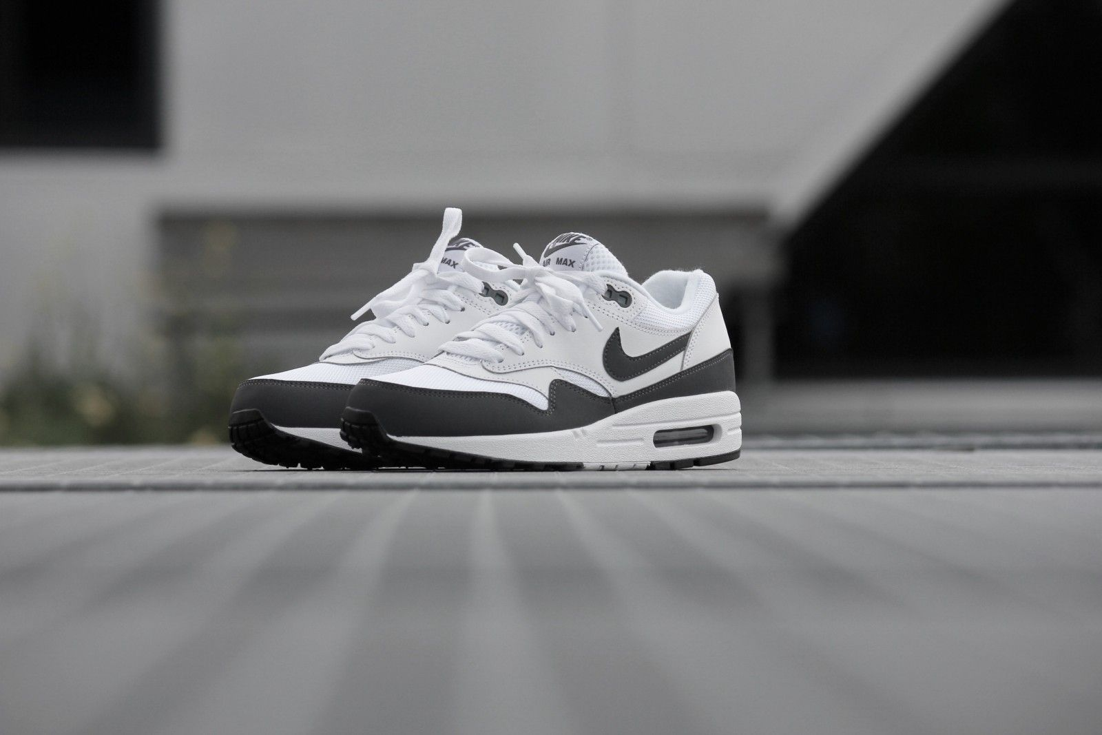 finest selection bac71 bbfed Nike Air Max 1 Essential White  Dark Grey-Black - 537383-126