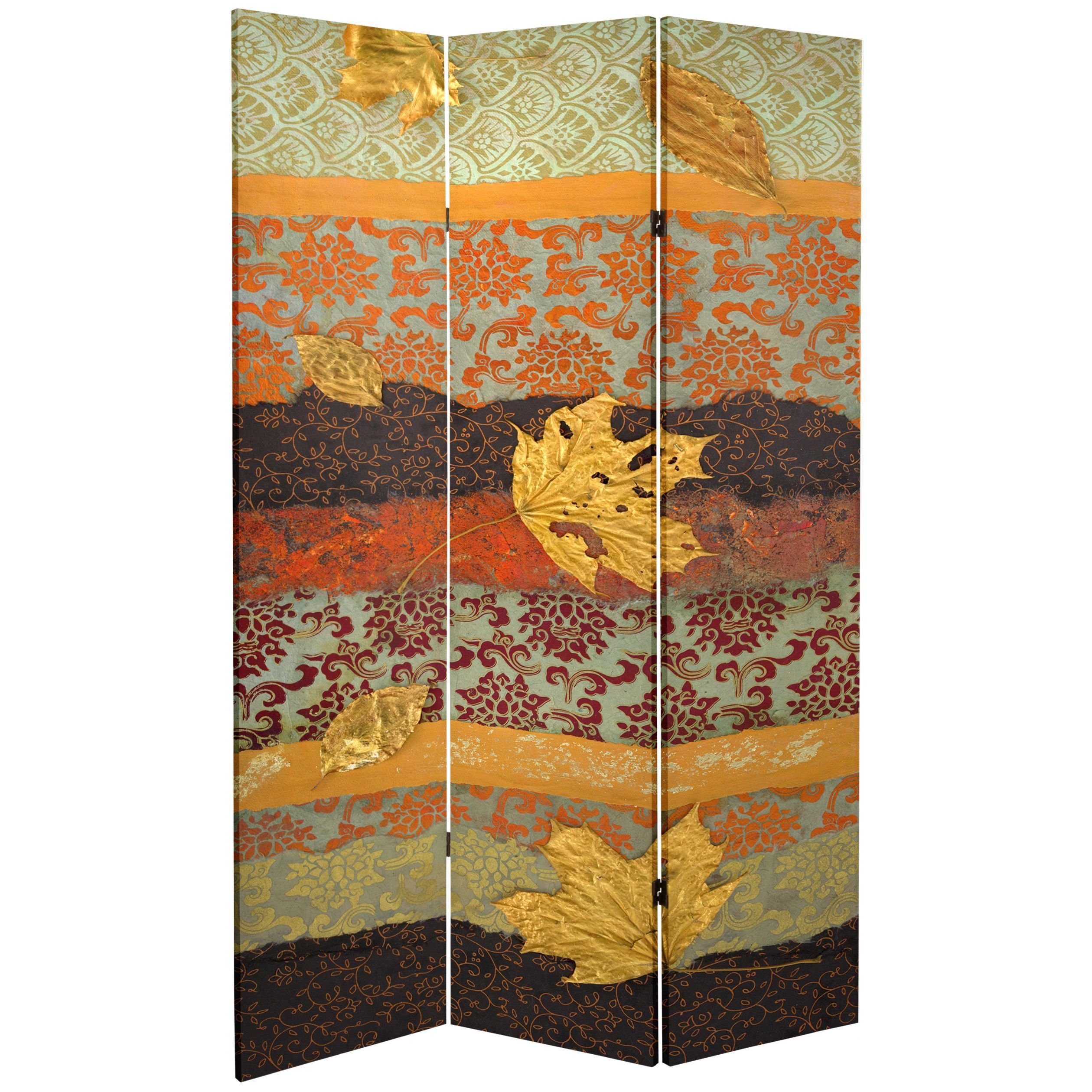 Oriental Furniture Double Sided October Gold 7 Foot Tall Canvas Room