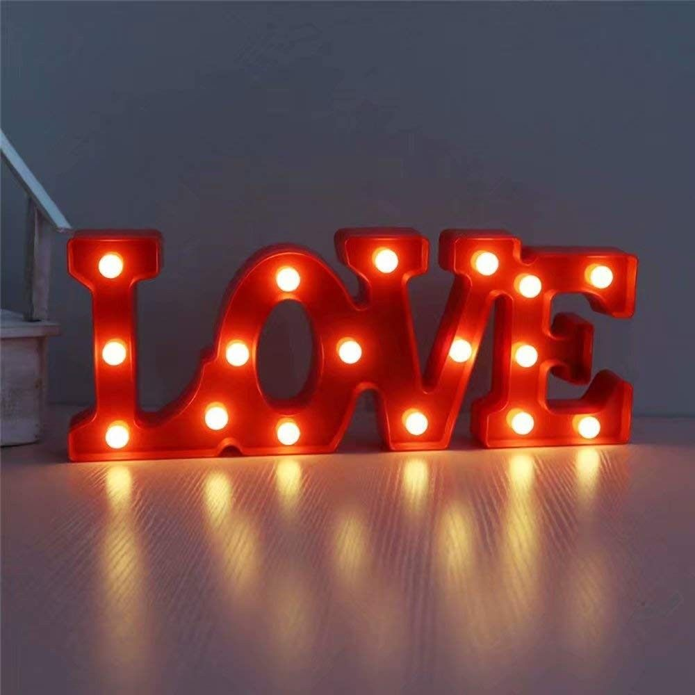 LED Marquee Letter Lights 26 Alphabet Light up Marquee