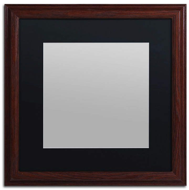 Trademark Fine Art Heavy Duty Wood Frame With Black Mat 16 X 16 In 2019 Products Wood Picture Frames Frame Picture Frames
