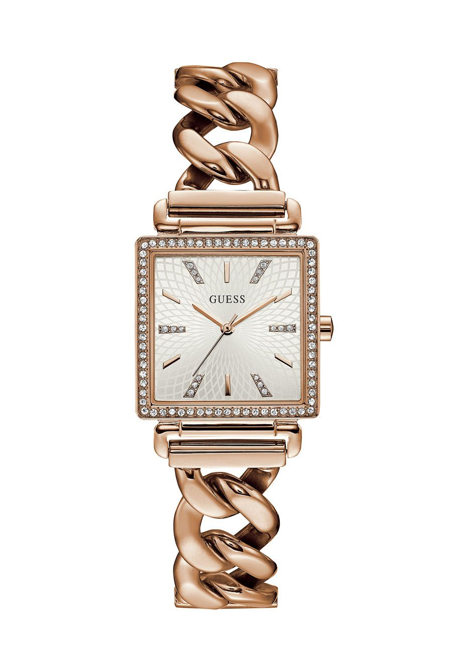 f71ab4f55734 Guess Vanity Chain Link Rose Gold Watch in 2019